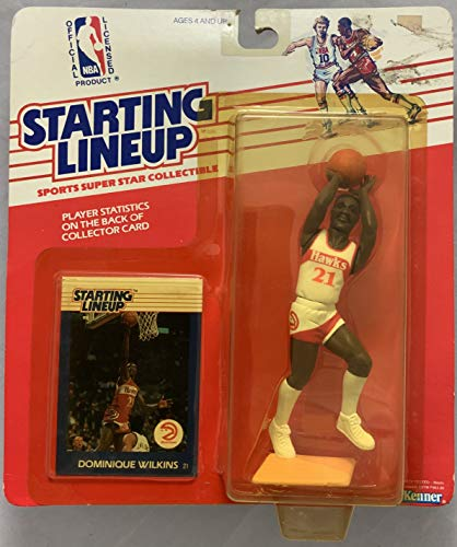(1988 KENNER STARTING LINEUP NBA DOMINIQUE WILKINS ATLANTA HAWKS)