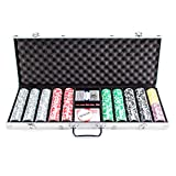 Brybelly Ultimate Poker Heavyweight Chip Set with Locking Aluminum Case (500 Chips), 14 g