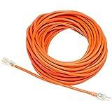 AmazonBasics 12/3 SJTW Heavy-Duty Lighted Extension Cord - 100 Feet (Orange)
