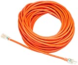 AmazonBasics 12/3 SJTW Heavy-Duty Lighted Extension Cord - 100 Feet (Orange)