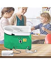 S SMAUTOP 350W Máquina de cerámica,eléctrica Herramienta de lanzamiento de cerámica de cerámica Herramienta de formación de arcilla Máquina de cerámica (pedal independiente)