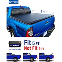 Tyger Auto TG-BC3T1030 TRI-FOLD Truck Bed Tonneau Cover 2005-2015 Toyota Tacoma | Fleetside 5' Bed | For models with or without the Deckrail System