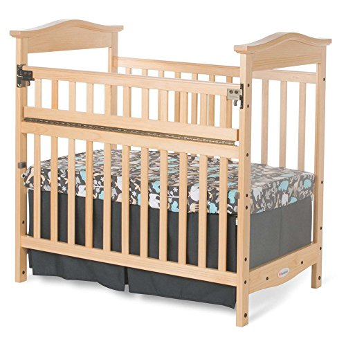 Foundations Worldwide The Princeton Clear Choice Mini Crib with Safereach Side - 1