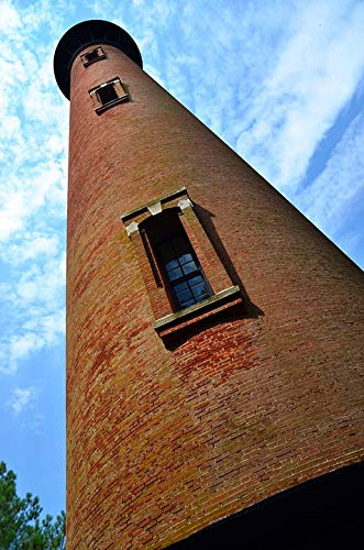 Home Comforts Peel-n-Stick Poster of Beacon Lighthouse Light Outer Banks Perspective Vivid Imagery Poster 24 x 16 Adhesive Sticker Poster Print