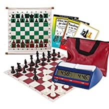 Scholastic Club Starter Kit - For 10 Members - With DGT North American Chess Clocks - Red - by US Chess Federation