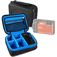 Protective EVA Action Camera Case (in Blue) - Compatible with the Nikon Coolpix W300 - by DURAGADGET