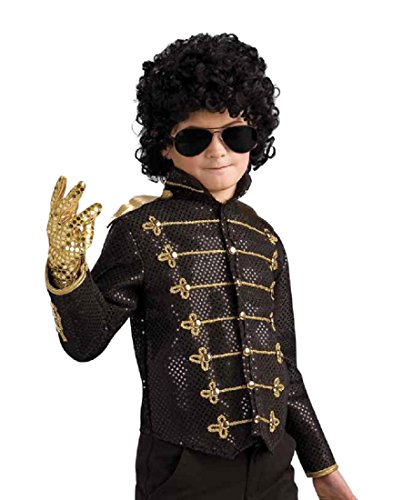 Michael Jackson Child's Deluxe Military Jacket Costume Accessory, Small, Black (Black Person Halloween Costume)