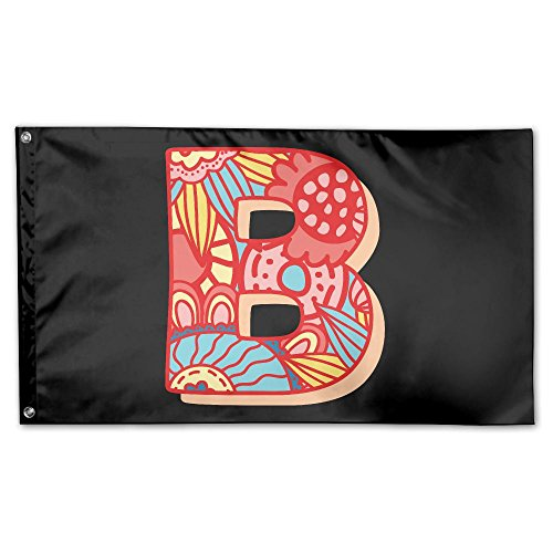 YUANSHAN Home Garden Flag Letter B Polyester Flag Indoor/Outdoor Wall Banners Decorative Flag Garden Flag 3' X 5'