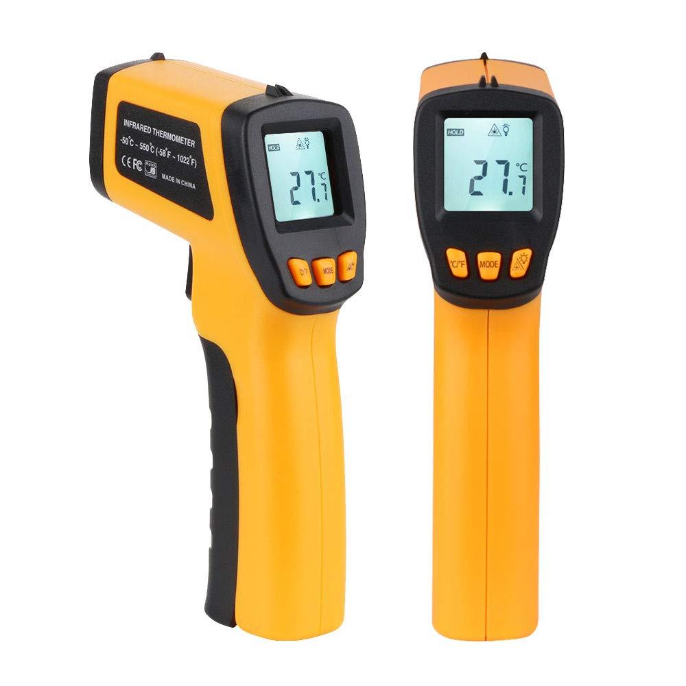 Termometro a infrarossi, w-unique senza contatto del laser digitale temperatura pistola -50 a 550 ℃ (-58 a 1022 ℉), display LCD retroilluminato con termometro a infrarossi per laboratorio, cucina, officina industria uso