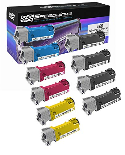 (Speedy Inks - 10PK Set of Compatible Xerox Phaser 6128 4x 106R1455 2x 106R1452 2x 106R1453 2x 106R1454)