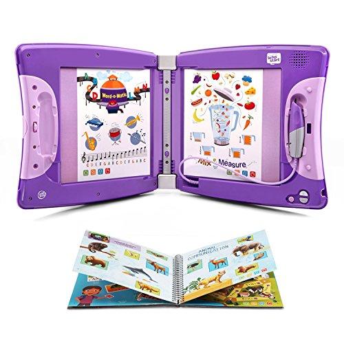 LeapFrog LeapStart Interactive Learning System for Kindergarten & 1st Grade, Exclusive Purple + Level 3 LeapStart Activity Book Bundle, Kids Educational Books, Learn Basic Concepts, Kids Gift Set by LeapFrog (Image #1)