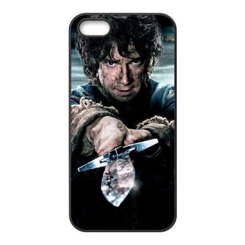 Bilbo Baggins 006 coque iPhone 4 4S cellulaire cas coque de téléphone cas téléphone cellulaire noir couvercle EEEXLKNBC23586