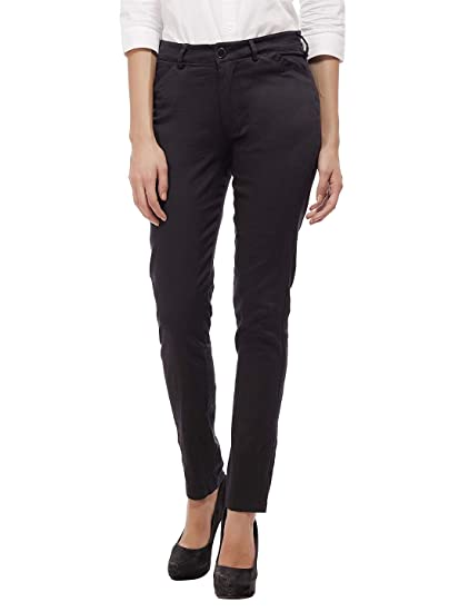 Buy Peptrends Women S Slim Fit Formal Trousers At Amazon In Buy from our women slim fit trousers range at tu clothing. slim fit formal trousers