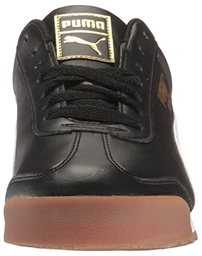 Puma Mens Roma Basic Gld Fashion Sneaker Puma Nero-puma Bianco