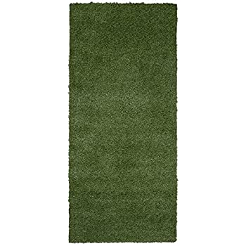 "Ottomanson Garden Collection Solid Grass Design Runner Rug, 20"" x 59"", Green"