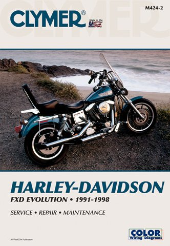 - 1991-1998 Harley Davidson FXD Evolution CLYMER MANUAL HD FXD EVOLUTION91-98, Manufacturer: CLYMER, Manufacturer Part Number: M424-2-AD, Stock Photo - Actual parts may vary.