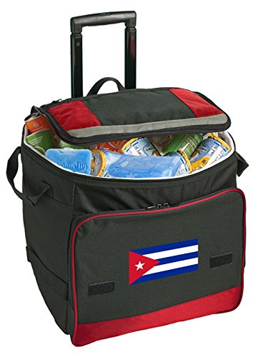 Broad Bay Cuba Rolling Cooler Cuban Flag Cooler Bags with - Wheel Cuban