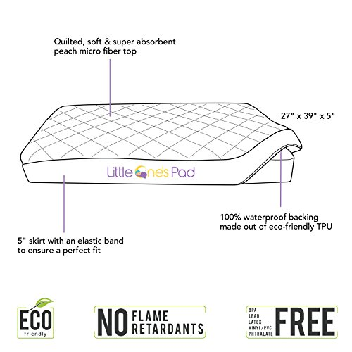 Little-Ones-Pad-Pack-N-Play-Crib-Mattress-Cover-Fits-ALL-Baby-Portable-Cribs-Mini-Foldable-Mattresses-Waterproof-Dryer-Safe-Hypoallergenic-Comfy-Soft-Fitted-Crib-Protector