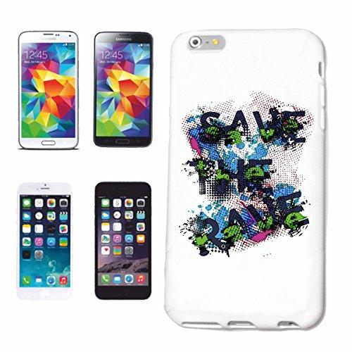 """cas de téléphone iPhone 7 """"SAVE THE RAVE GRAFFITI ART DE SÉCURITÉ COLOURFUL Klecks PEINTURE DE COULEUR"""" Hard Case Cover Téléphone Covers Smart Cover pour Apple iPhone en blanc"""