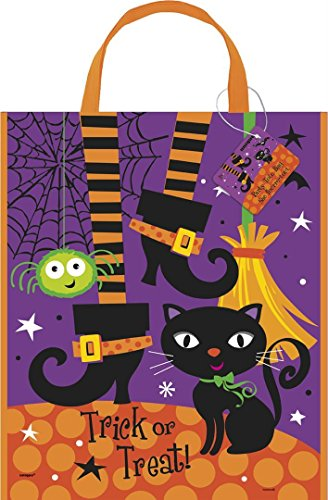 Large Plastic Spooky Boots Halloween Goodie Bag, 15