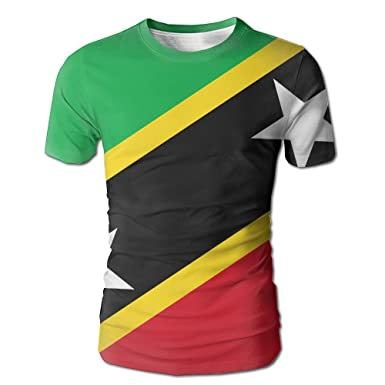 pengyou summer men s st kitts and nevis large flag solid color tee