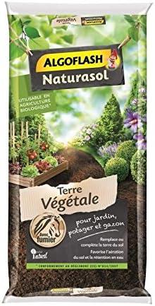 Algoflash NATURASOL - Tierra Vegetal enriquecida, Lista para Usar, para Suelos empobrecidos, 40 L, ATVEG40: Amazon.es: Jardín