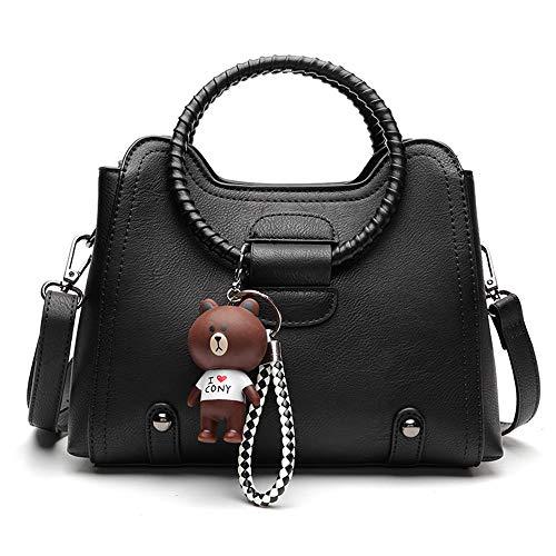 femme bandoulière sac sauvage mode main de atmosphère Messenger LANDONA sac vague été sac à nouvelle sac noir petit à coréenne CKRfq4