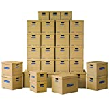 Bankers Box SmoothMove Classic Moving Boxes Value Kit, 5 Small/20 Medium/5 Large Boxes, 30-Pack, No Tape Required (7716502)