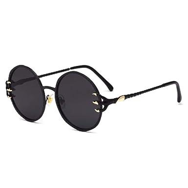 Gafas de sol, gafas de metal, ladiesdragon garra Round ...
