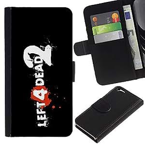 Be Good Phone Accessory // Caso del tirón Billetera de Cuero Titular de la tarjeta Carcasa Funda de Protección para Apple Iphone 6 4.7 // Left Dead