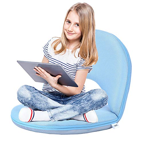 Floor Chair Floor Cushion Sofa Folding Adjustable 5-Position Floor Seat with Back Support for Kids Adult, Great for Gaming Reading TV Watching Meditating (Best Sofa For Watching Tv)