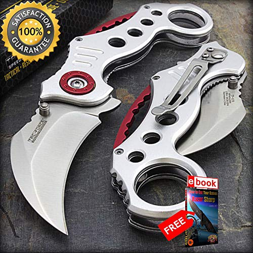 7.75'' TAC FORCE KARAMBIT SPRING ASSISTED TACTICAL FOLDING POCKET KNIFE Open Combat Tactical Knife + eBOOK by Moon Knives ()