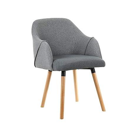 BGTRRYHY Juego de 2, sillones de Madera de Haya, minimalismo ...