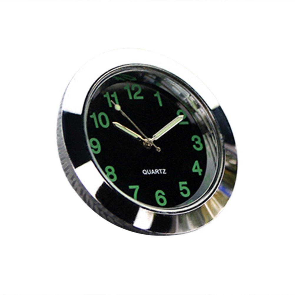 Black VORCOOL Universal Car Air Outlet Clock Electronic Noctilucent Quartz Clock Luminous Pointer For Auto Interior Decoration