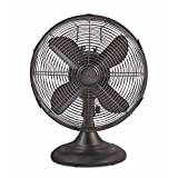 Holmes Heritage Collection Table Fan, 12-inch, Brushed Bronze
