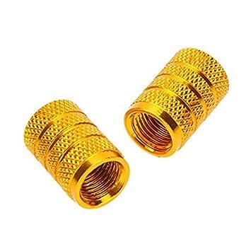 2 ensembles SODIAL Capuchon de valve de pneu en alliage pour velo motos et voiture avec valve de Schrader de la couleur argent