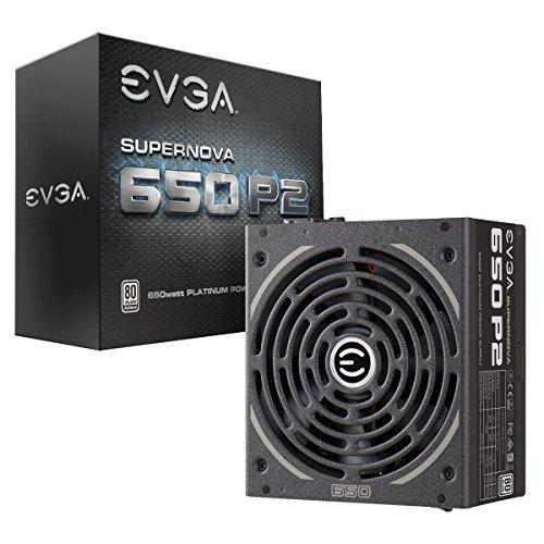 EVGA SuperNOVA 650 P2, 80+ PLATINUM 650W , Fully Modular , EVGA ECO Mode, 10 Year Warranty , Includes FREE Power On Self Tester, Power Supply 220-P2-0650-X1