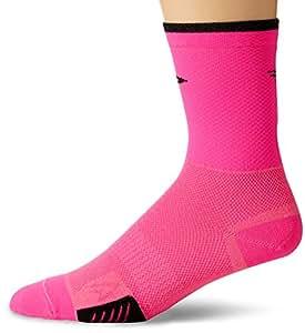 "Defeet Cyclismo 5"" Socks, Hi-Vis Pink, Medium"
