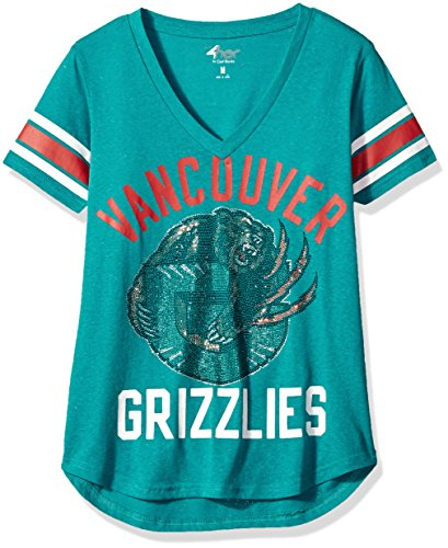(NBA Vancouver Grizzlies Women's The Big Game Tee, Small, Teal )