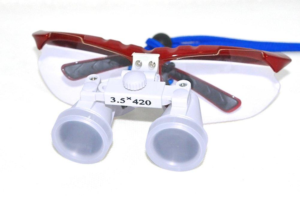 dbf9eda6df2c2a Funwill Loupe Binoculaire Medicale 3.5X 420mm pour Chirurgie Dentaire Verre  Optique Loupe (Rouge)  Amazon.fr  Hygiène et Soins du corps