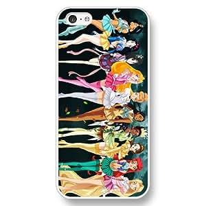 UniqueBox Customized Disney Series Phone Case for iPhone 5C, Disney Princess iPhone 5c Case, Only Fit for Apple iPhone 5C (White Hard Shell)