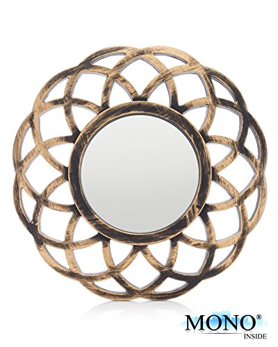 MONOINSIDE® Small Round Framed Wall Mount Glass Mirror