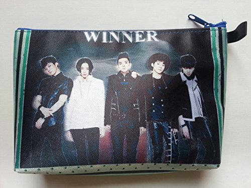 WINNER Korean Boy Band BIG Zip Pen Pencil / Cosmetic Case Bags Pouch (Trina Pencil Holder)