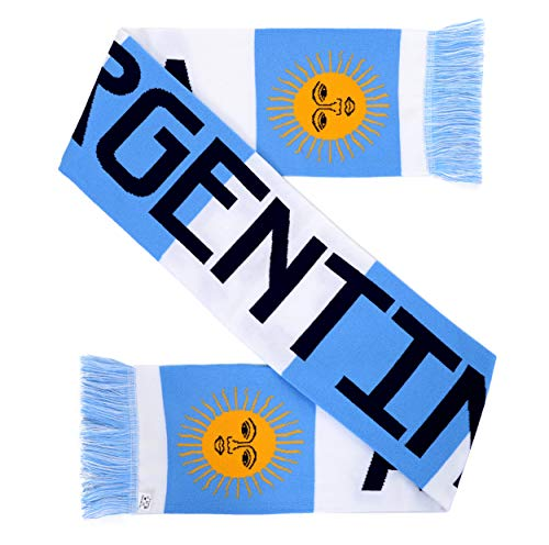 Euroscarves National International Soccer High-Definition HD Knit Scarf (Argentina)