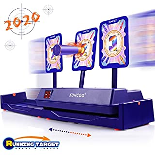 SUNCOO Running Shooting Targets Electronic Scoring Auto Reset Digital Targets for Nerf Guns Toys, Ideal Gift Toy