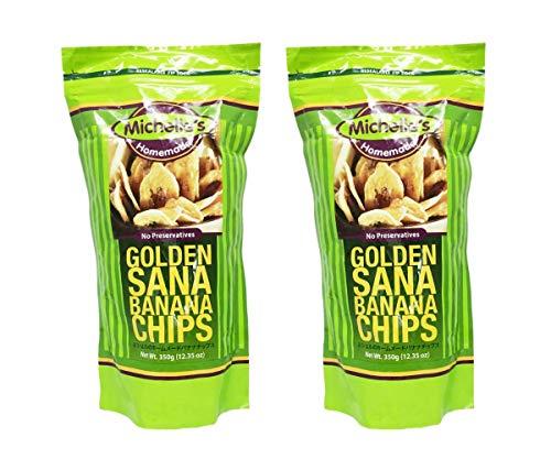 (Michelle's Homemade Golden Sana Banana Chips 12.35oz, 2 Pack)