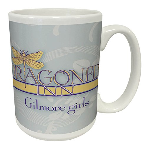 Gilmore Girls Dragonfly Inn Logo Comedy Drama TV Television Show Ceramic Gift Coffee (Tea, Cocoa) Mug, 15 Ounce (Dragonflies For Kids)