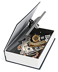 "iMounTEK Home Security Steel Dictionary Book Safe (Key-Locked, Two Keys, Diversion Safe, ""The New English Dictionary"", Jewellery/Coins/Money/Valuables) - Dark Blue Review"