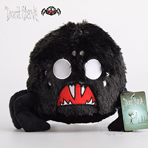 Shalleen Don't Starve Balck Shadow Spider Plush Toy Soft Stuffed Animal Doll 10'' (Tim Burton Alice In Wonderland Alice Blue Dress Costume)