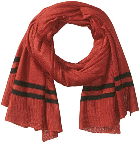 (Orchid Row Women's Prep Stripe Jersey Knit Basic Scarf Red/Black O/S)